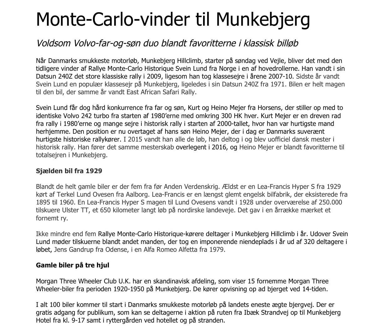 PM 2 Monte-Carlo-vinder til Munkebjerg